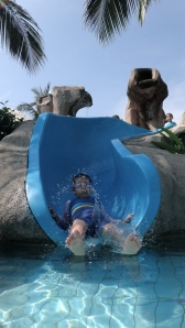 The slide at the pool