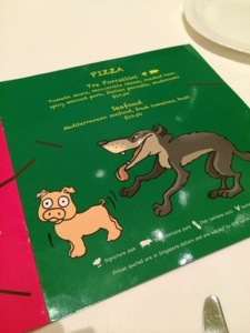 This is the kids menu - I've never seen anything remotely as interesting as this!