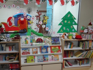 The waiting/reading area and indoor play area