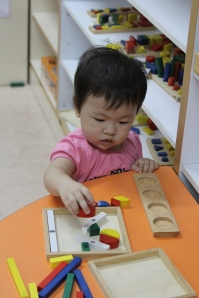 Even Scout was so busy every day playing with the toys and manipulatives!