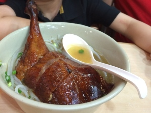 Yummy duck noodles