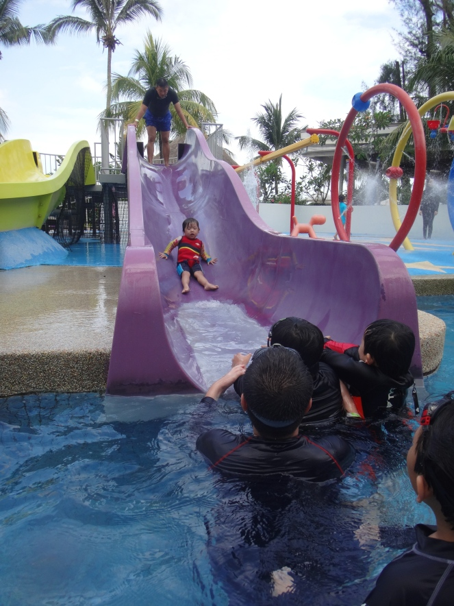 hard rock hotel penang, swimming pool slide