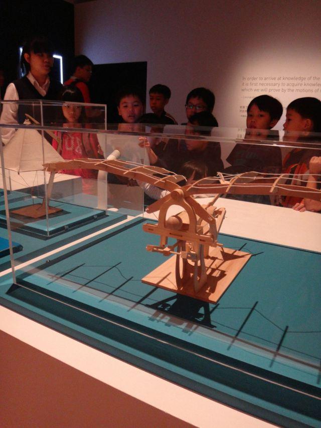 A model of one of da Vinci's flight machines