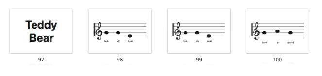 I also intend to print some of the song sheets from the class out, so that Yeye can play the piano with her.