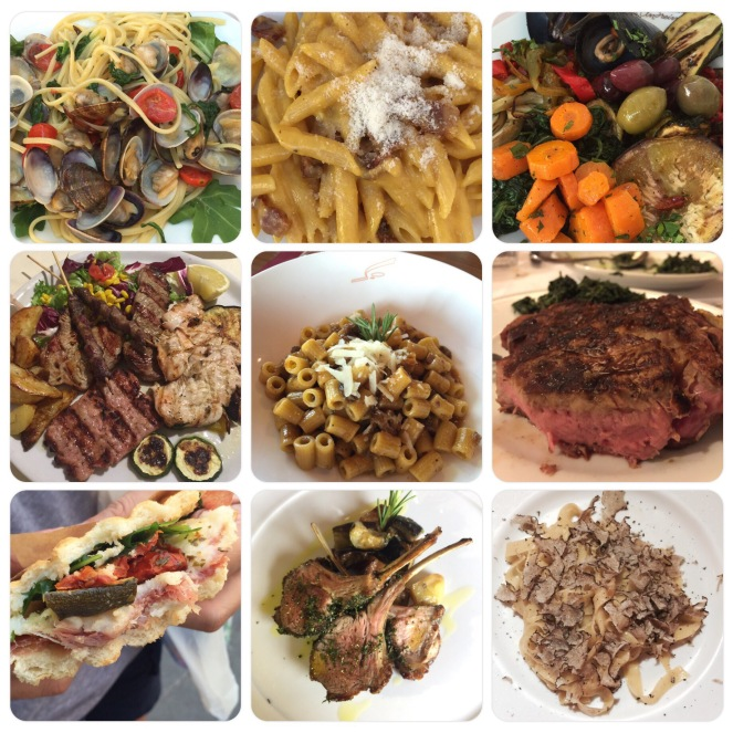 Oh, the glorious food of Italy! (And of course, the wines too)