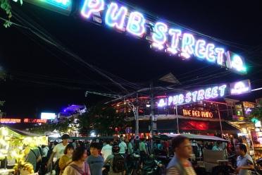 Pub street angkor wat siem reap cambodia