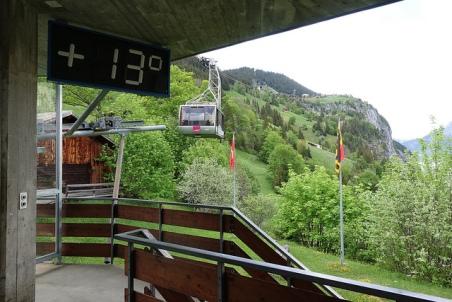 Gondola Murren Gimmewald Lauterbrunnen Schiltorn Switzerland Swiss Alps